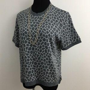 Gray Short Sleeve Top